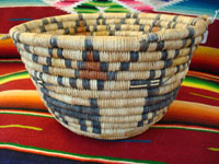 Native American basket, Hopi coiled basket, c. 1920.