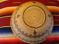 Yokuts basket, side view