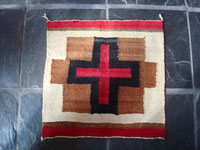 Native American Indian vintage textiles, and Navajo rugs and textiles, a lovely small textile or rug with very beutiful design in very bright and vivid colors, Navajo, Arizona or New Mexico, c. 1930-40's.  Main photo of the Navajo rug or textile.