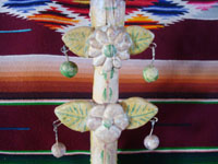 Mexican vintage folk art, and Mexican vintage pottery and ceramics, a wonderful pottery tree-of-life, decorated with lovely birds and flowers in gentle muted colors, Izucar de Matamoros, c. 1950's.  Photo of the top part of the tree.
