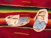 Native American Indian beadwork baby mocassins, Lakota or Cheyenne, c. 1890-1900. The beadwork is fantastic and is in great condition. Another view of the mocassins.