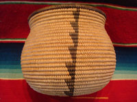 Native American Indian antique baskets, a fantastic and very finely woven Chemehuevi olla with wonderful, simple decorative elements, Needles, California or Parker, Arizona, c. 1920. Main photo of the Indian basket.
