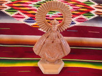 Mexican vintage devotional art, and Mexican vintage woodcarving, a lovely woodcarving of Our Lady of Good Health, Patronness of the Basilica in Patzcuaro, Michoacan, c. 1950's. Main photo.