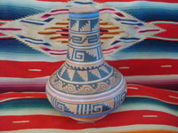 Mexican vintage pottery and ceramics, a flatware (opaco) water jar and cup from Tonala, Jalisco, c. 1930-40's. Main photo of the water jar and cup.