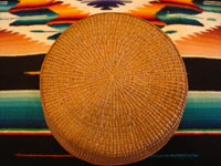 Photo of bottom of Tlingit basket.