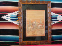 Mexican vintage straw-art, popote or popotillo, framed scene, c. 1940. Popotillo or popote art (Mexican straw art) is incredibly intricate and beautiful! The scene is created using thousands of tiny pieces of dyed straw, each carefully placed into wax to create the scene.