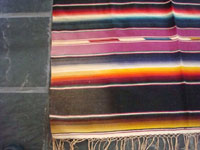 Another closeup photo of the Mexican vintage textile, a Saltillo Sarape.