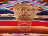 Native American Indian basket, a Klamath twined basket with the porcupine design on the sides, Klamath Indians of Northern California, c. 1910-20. Main photo of the Klamath Indian basket.