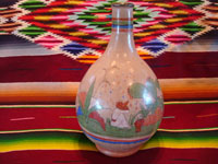 TT-3: Mexican vintage pottery and ceramics, a beautiful burnished jar from Tonala Jalisco, c. 1930's. Main photo of the Tonala burnished pottery water-jar.