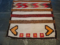 Closeup photo of bottom of Navajo textile.