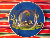 Mexican vintage pottery and ceramics, large charger from Tlaquepaque, c. 1930.