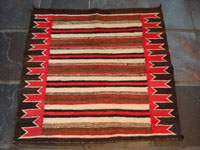 Native American antique textile, Navajo saddle blanket, c. 1930.