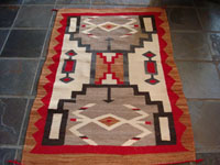 Native American antique textile, Navajo rug, c. 1930.