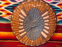 Photo of back of Hopi wicker plaque.