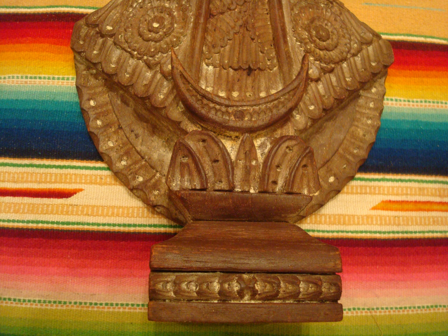 Vintage mexican wood carvings and masks olinala