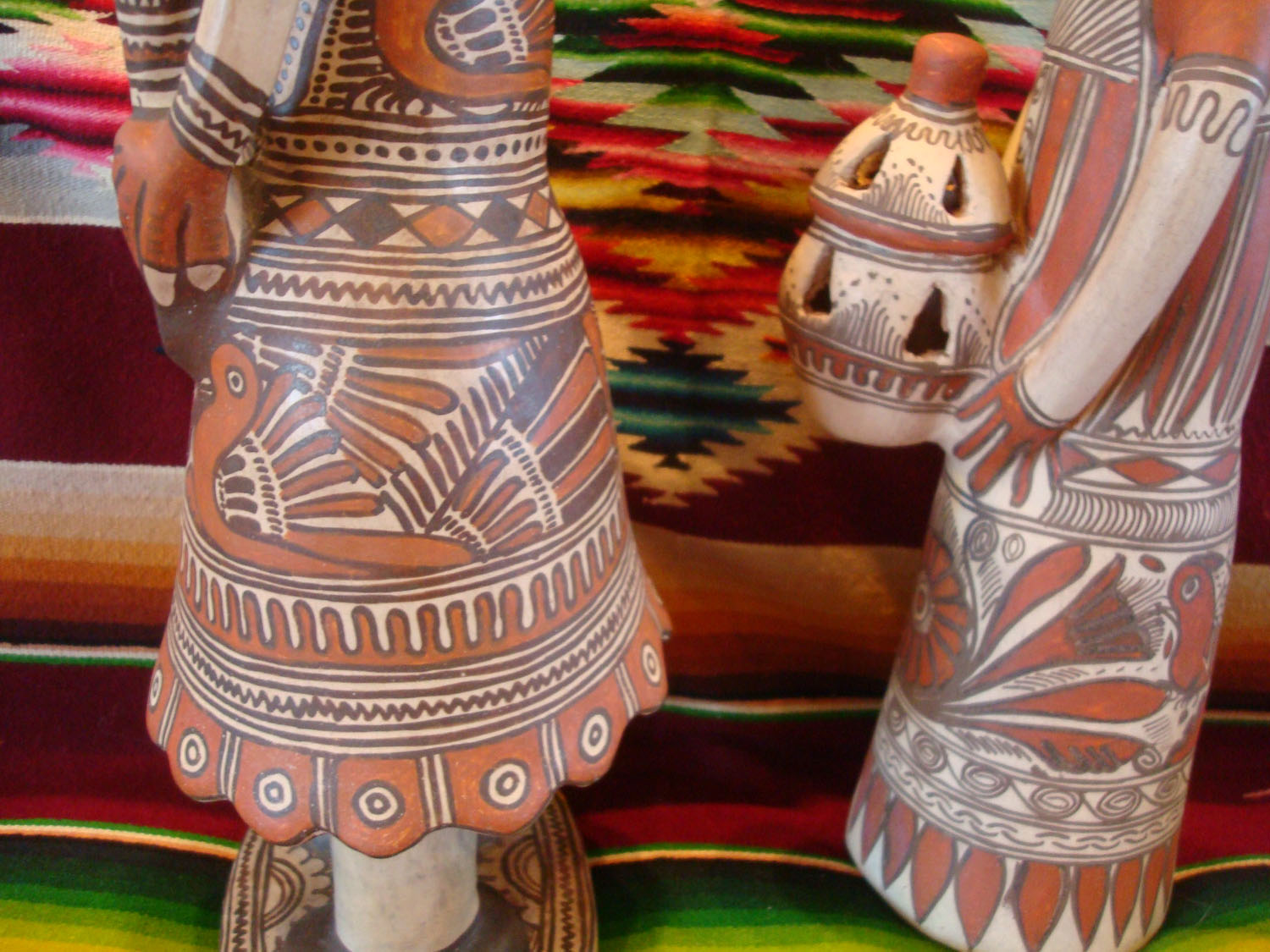 Mexican Vintage Folk Art And Mexican Vintage Pottery And