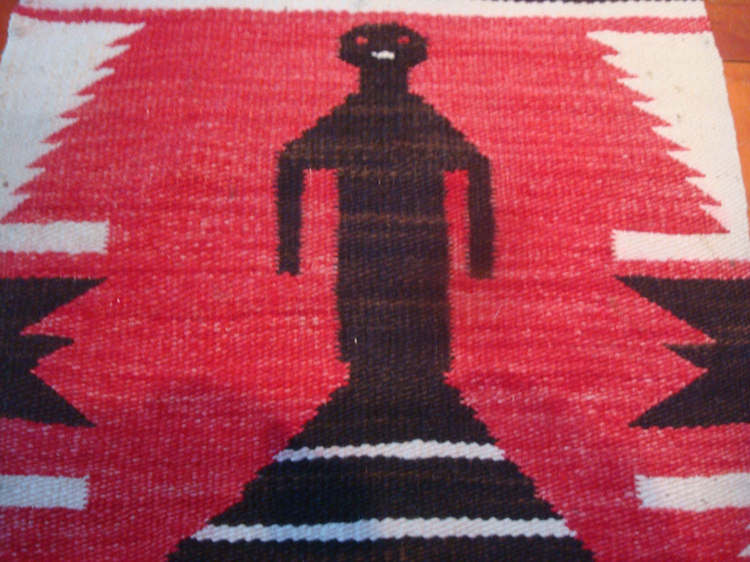 Native American Indian Vintage Textiles And Navajo Rugs A Lovely Weaving Depicting Woman
